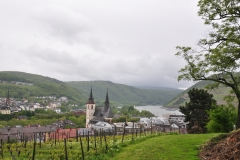 Blick über die Basilika in Bingen nach Bingerbrück